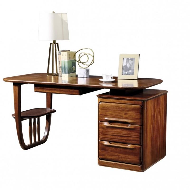 新桂铭知格实木家具ZGD01书桌+ZGD01书柜+ZGD01书椅