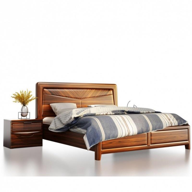 文森大赫实木家具卧室实木大床901+床头柜B901+D901四门衣柜