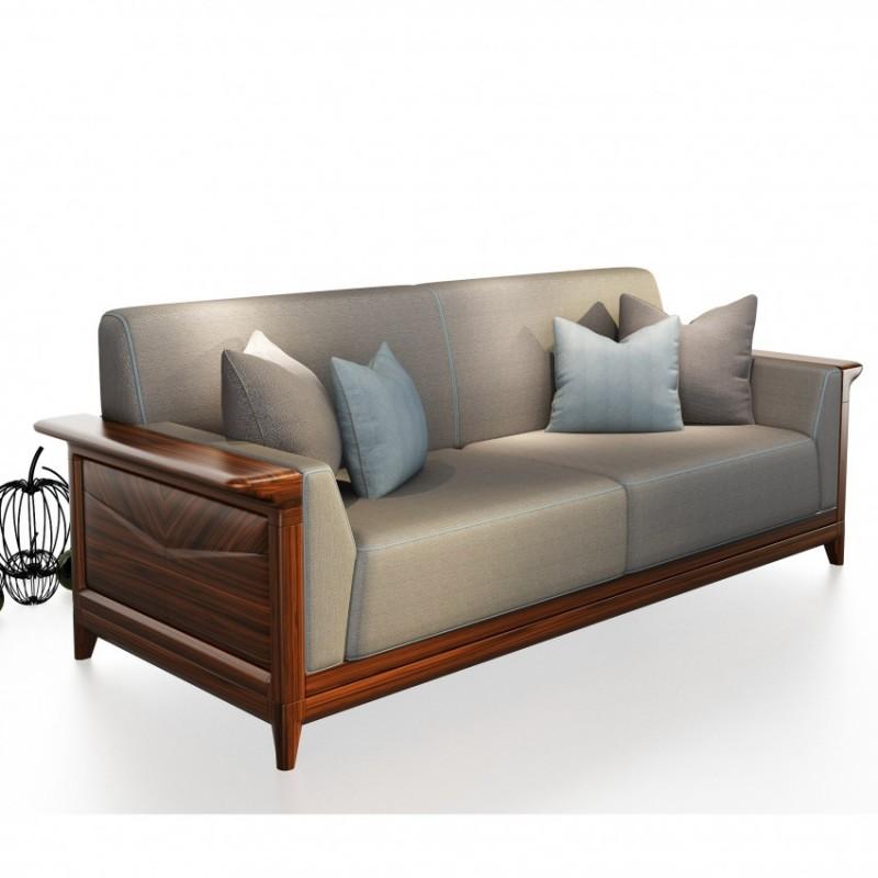 文森大赫实木家具S902沙发+P902长茶几