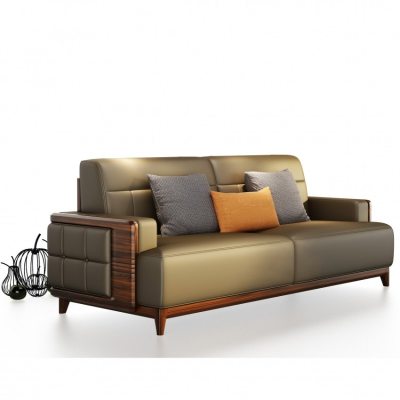 文森大赫实木家具S903沙发+P903大方几