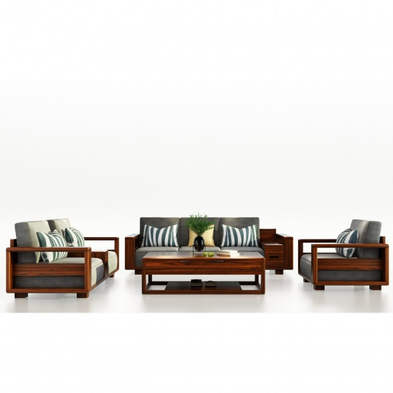 文森大赫实木家具S905沙发