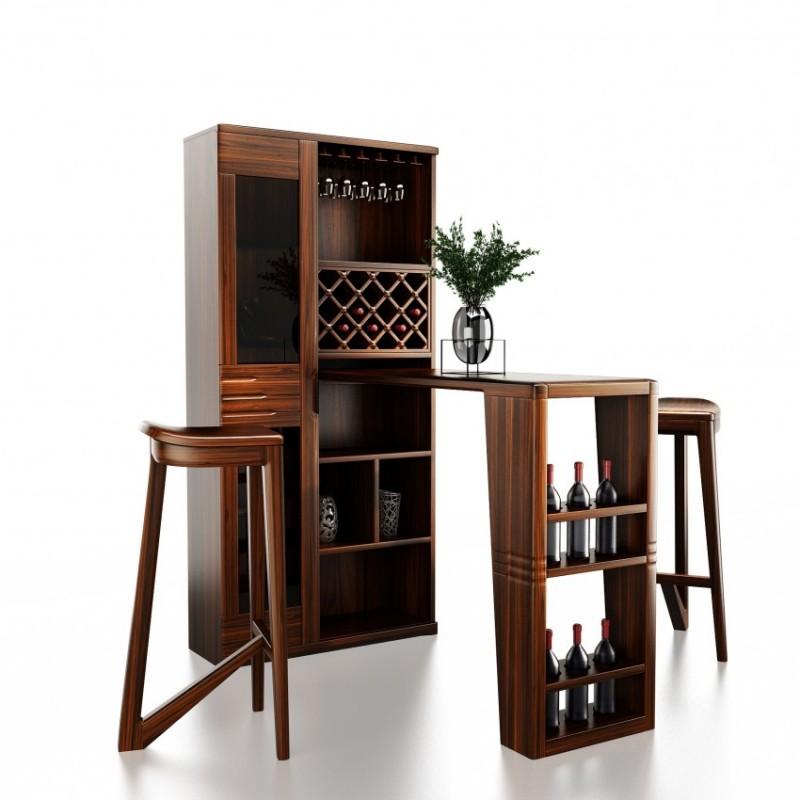 文森大赫实木家具餐厅实木吧台