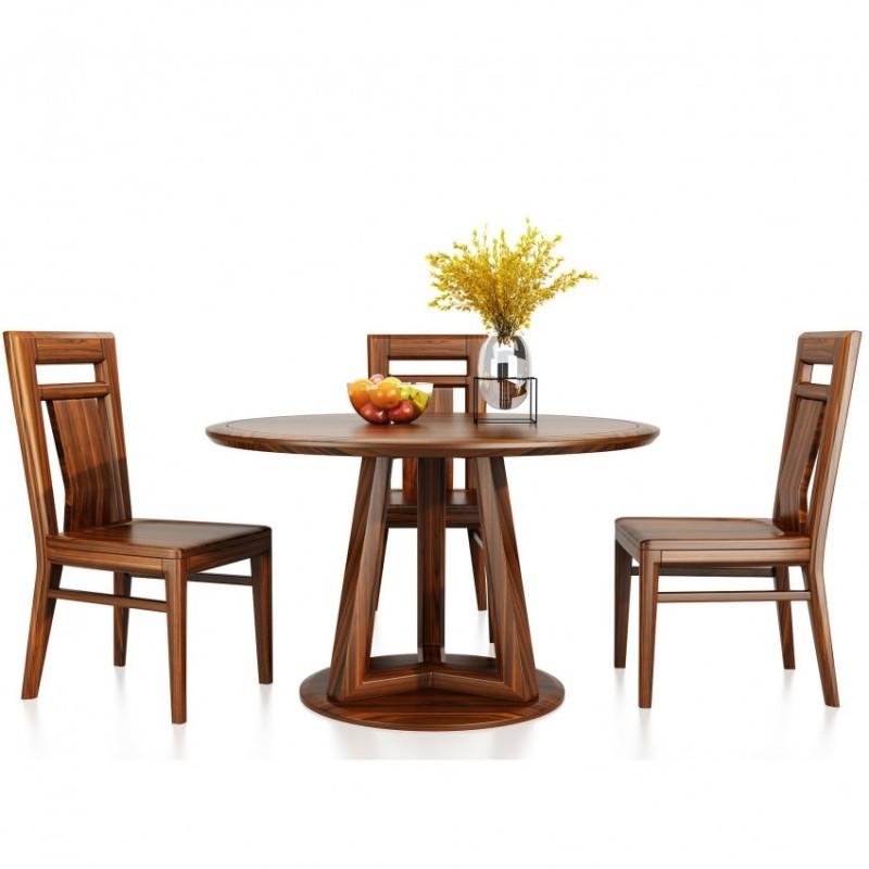 文森大赫实木家具餐厅餐台餐椅+餐边柜