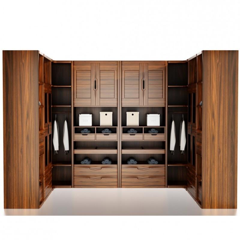 文森大赫实木家具卧室衣帽间组合衣柜