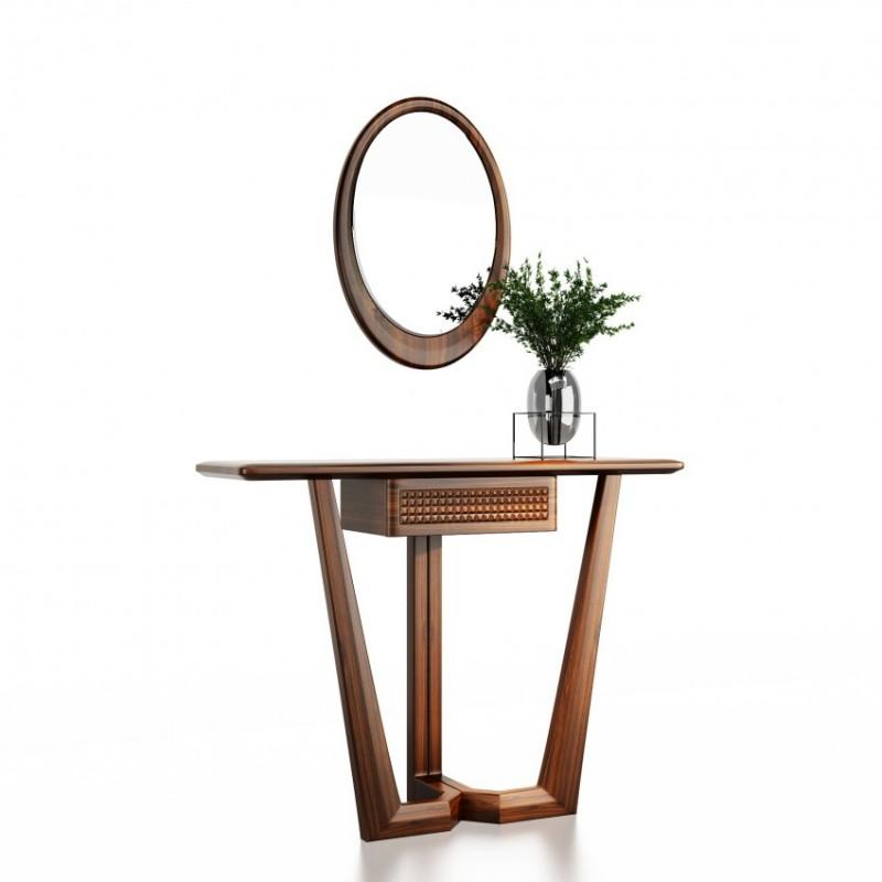 文森大赫实木家具门厅玄关+镜