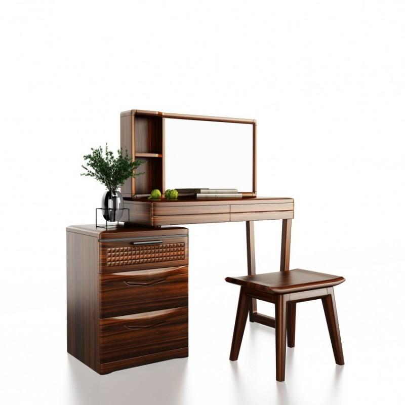 文森大赫实木家具卧房梳妆台妆镜妆凳