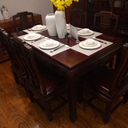 酸枝红木餐桌