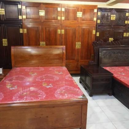 红木床衣柜组合