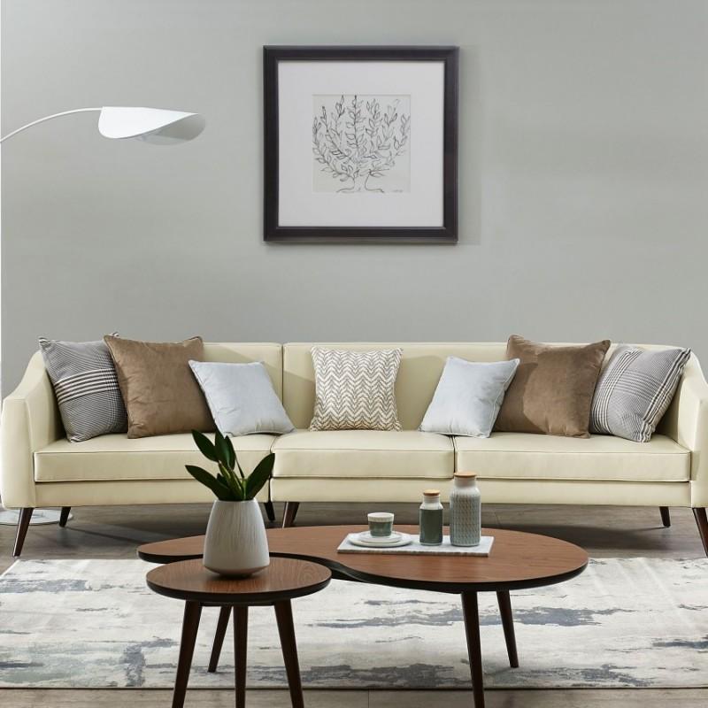 漾驰意式极简客厅沙发组合茶几组合1