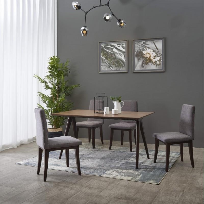漾驰意式极简家具餐厅餐桌椅组合1