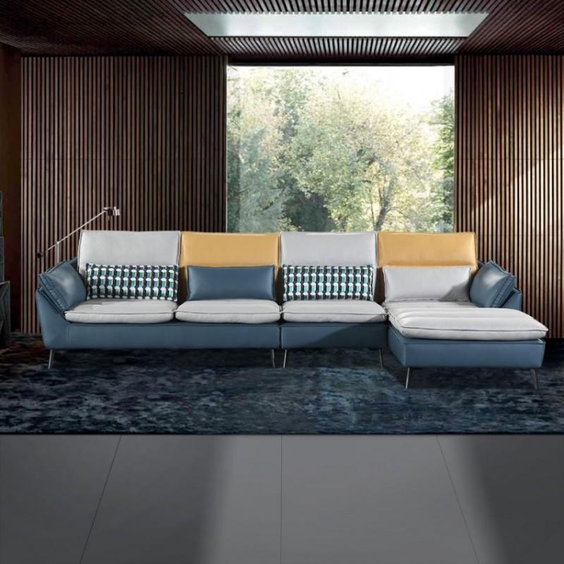 现代极简客厅休闲沙发