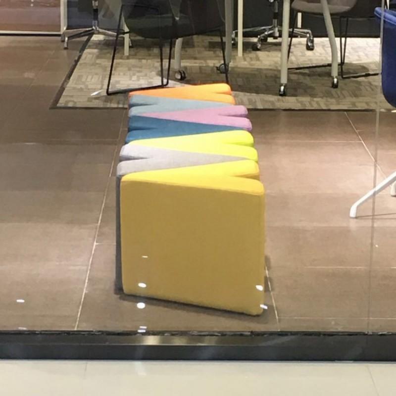 休闲字母布艺沙发凳64