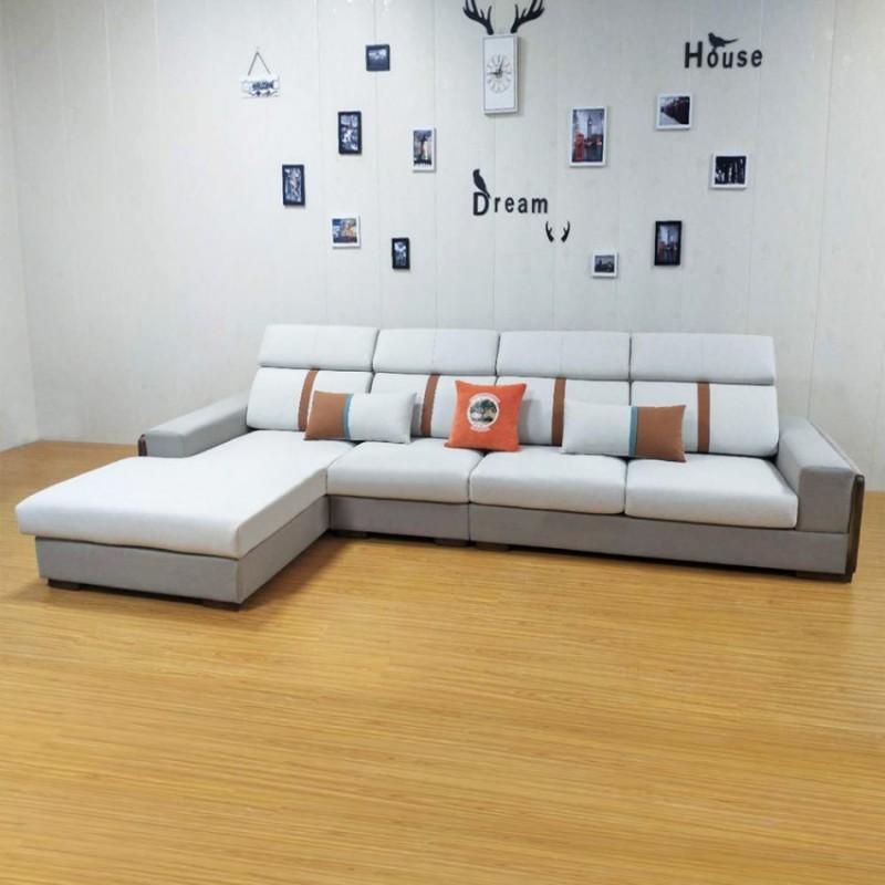 休闲带木线布艺沙发组