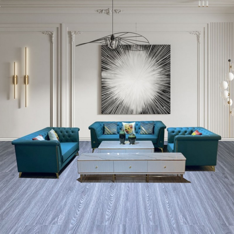 时尚轻奢客厅真皮沙发