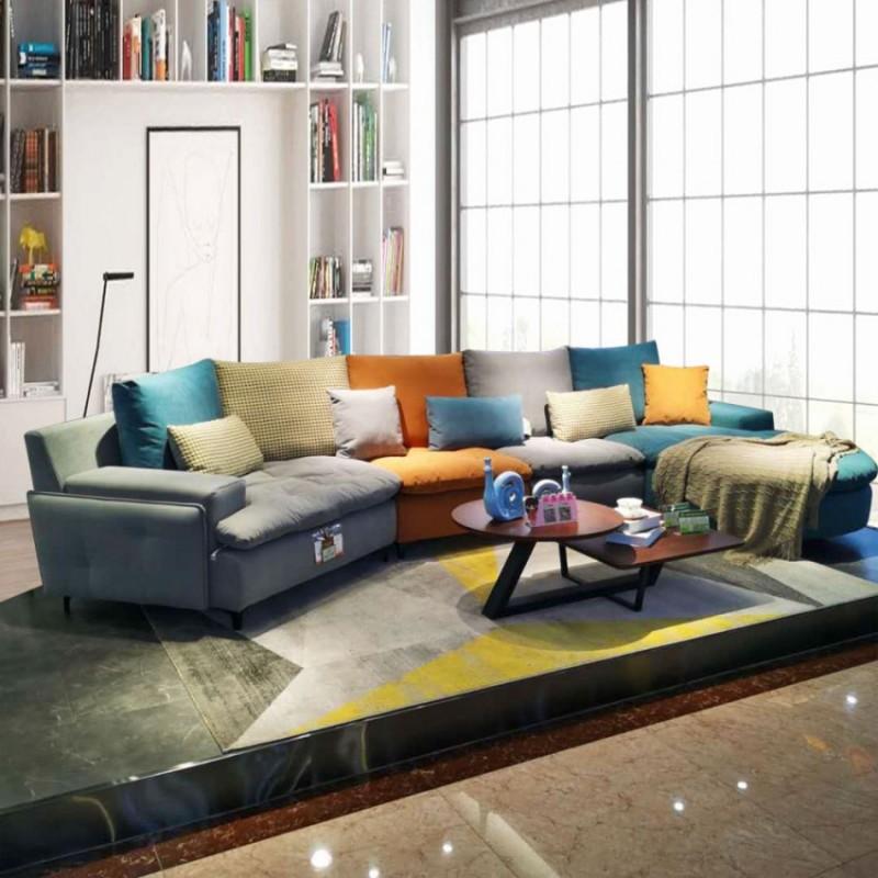 极简现代沙发布艺沙发