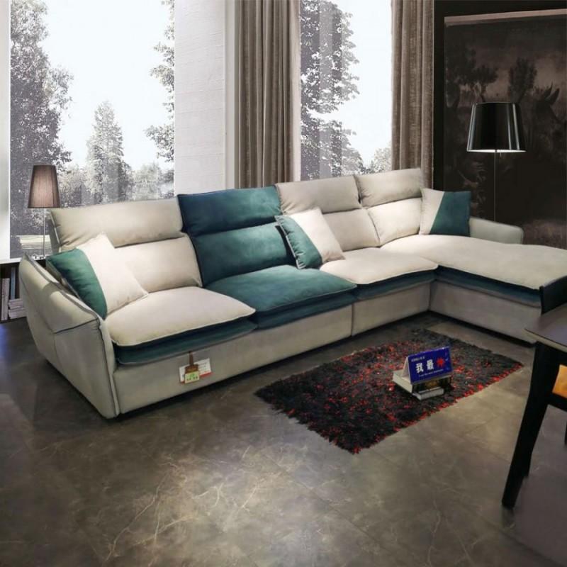 现代极简转角沙发生产