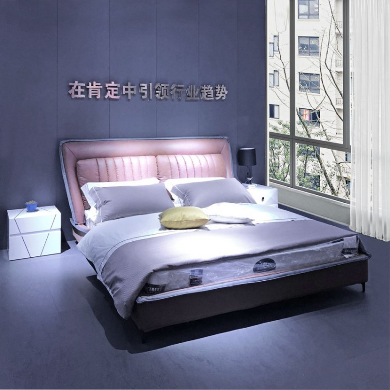 大户型卧室婚床软床C-