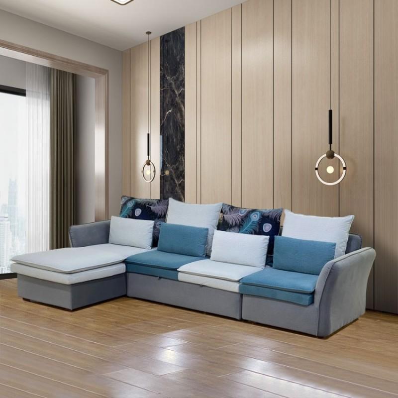 小户型客厅布艺沙发拉