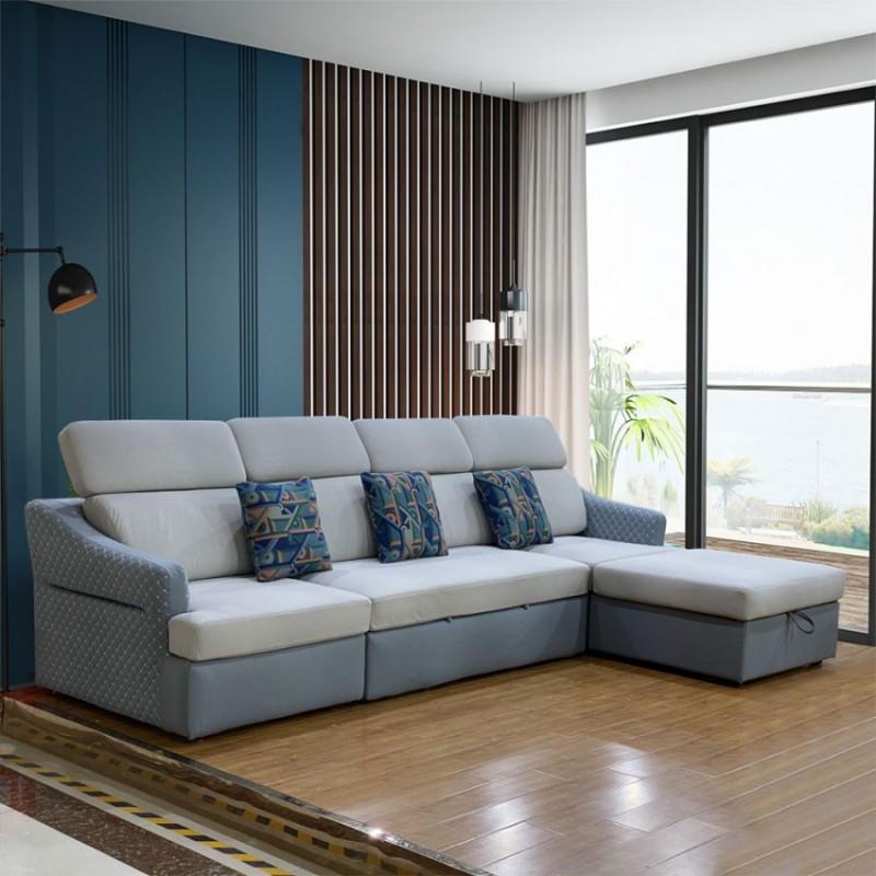 客厅多功能布艺沙发拉