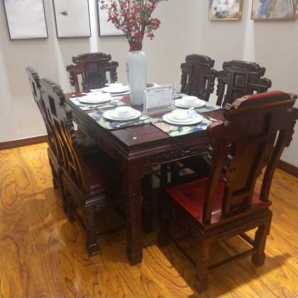 酸枝红木古典餐桌