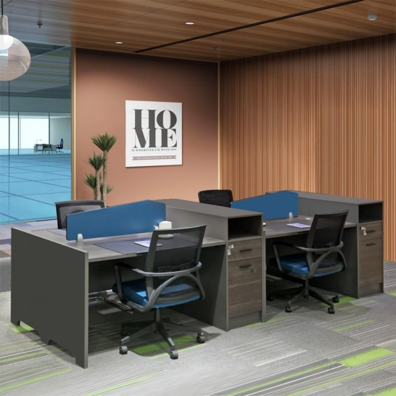 职员办公桌定做 屏风隔断电脑桌厂家506