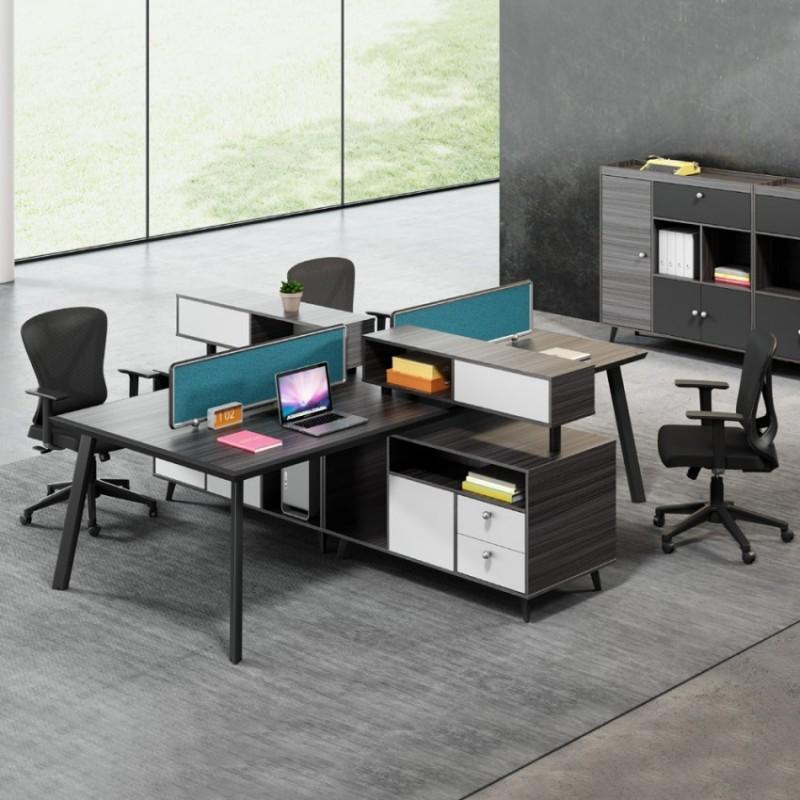 时尚现代屏风工位隔断办公桌供应商 PF-05