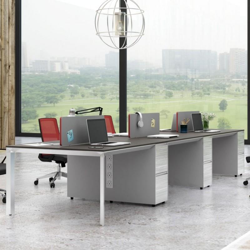 现代职员办公屏风桌 PF-05