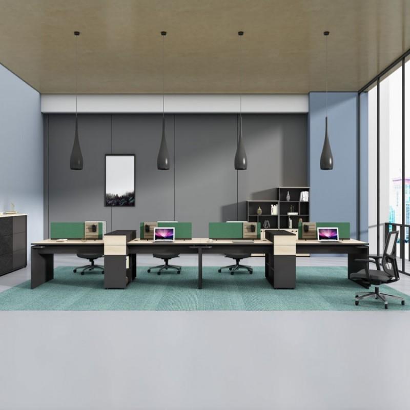 板式屏风办公桌椅组合 PF-18
