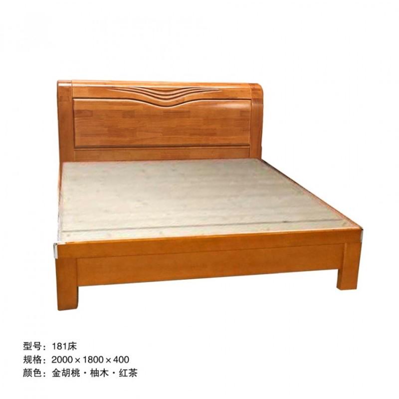 卧室简约双人床定制 181床#