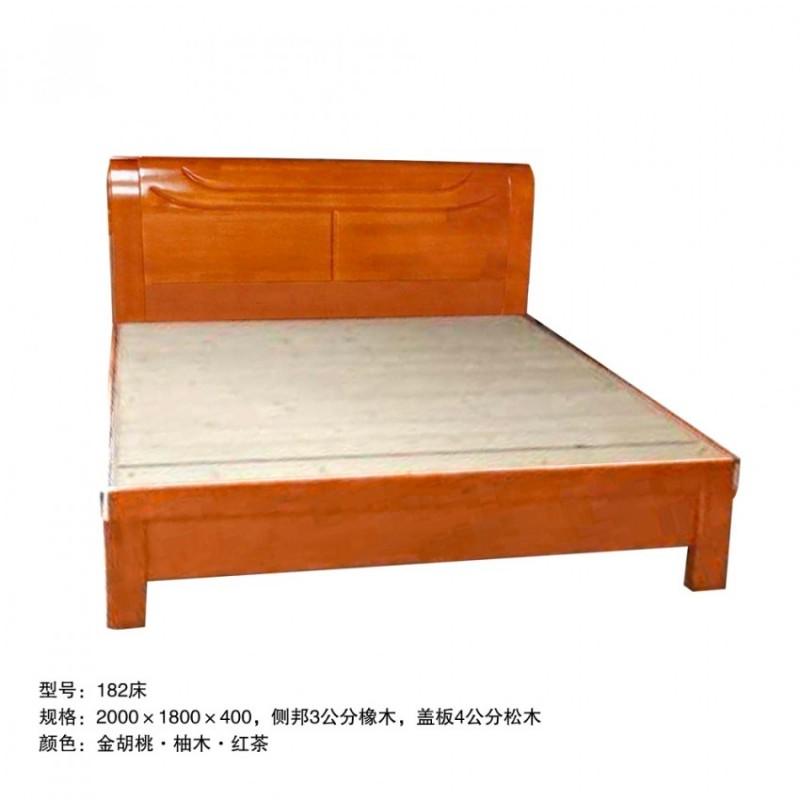 小户型卧室双人床 182床#