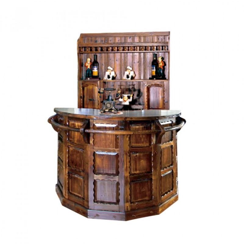 仿古圆吧台桌碳烧木酒吧台BT-5圆吧台