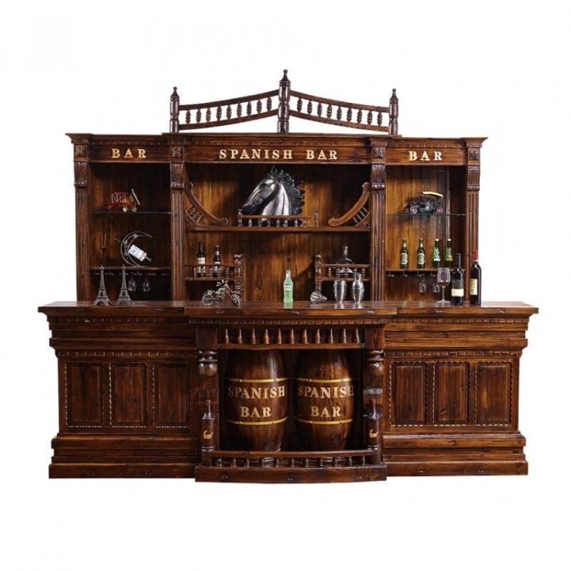 实木欧式红酒架隔断酒柜吧台 BT-2大吧台
