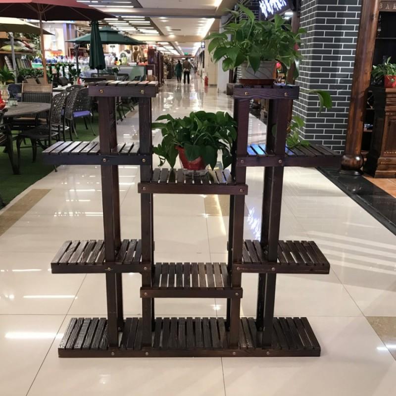 香河户外层户外花架多功能架子多肉植物花架花箱碳化木实木结实的