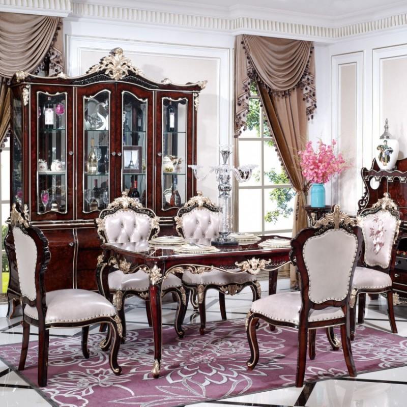 曼斯丹丽欧式家具餐厅餐桌椅8801-2