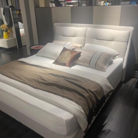 现代布艺床 (3)
