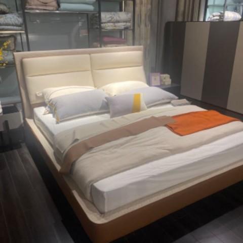 现代布艺床 (4)
