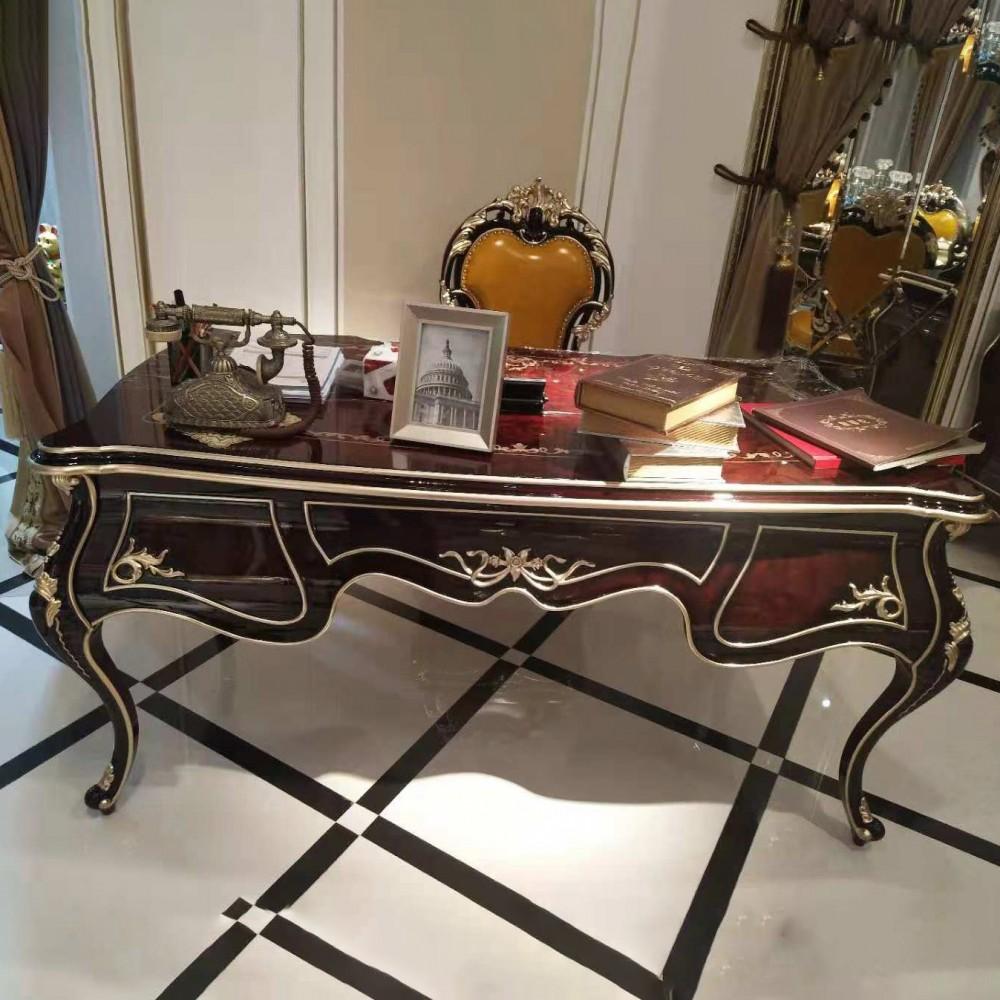 曼斯丹丽欧式家具古典雕花客厅书桌书椅