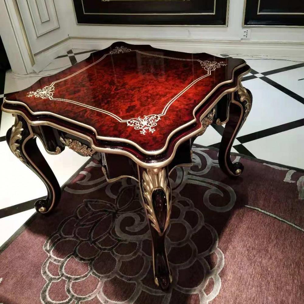 曼斯丹丽欧美实木家具古典雕花客厅茶几1