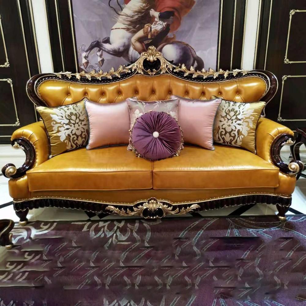 曼斯丹丽欧美实木家具古典雕花客厅沙发