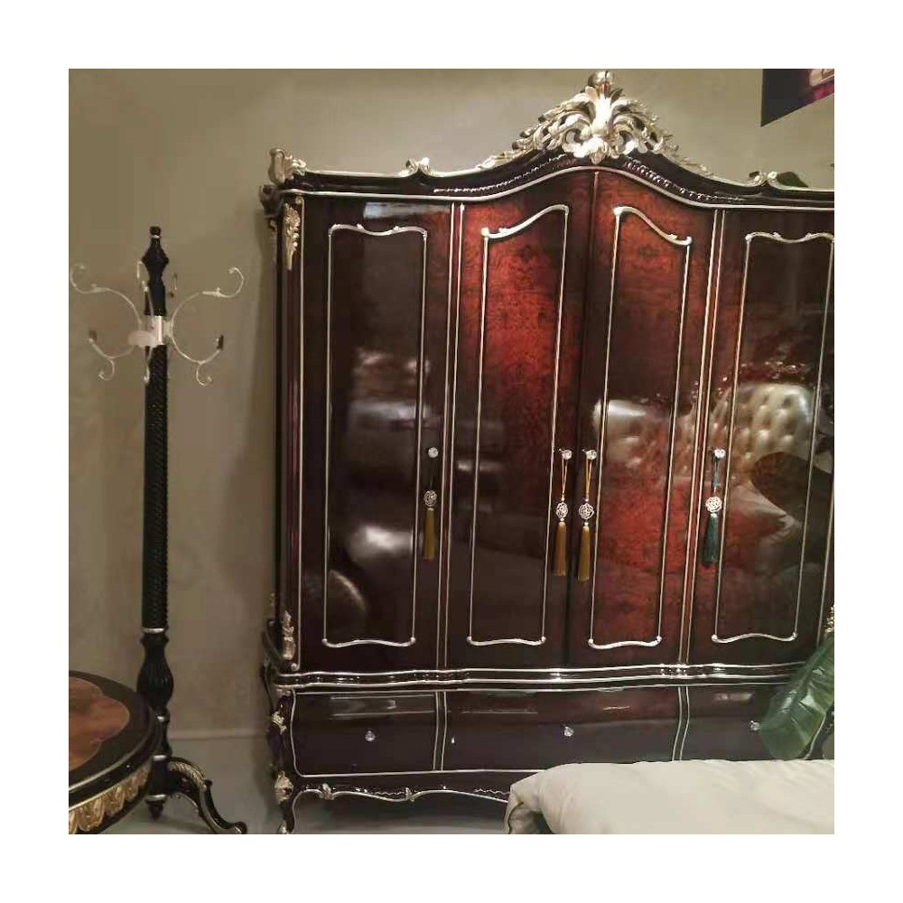 曼斯丹丽欧美实木家具古典雕花卧室衣柜衣橱