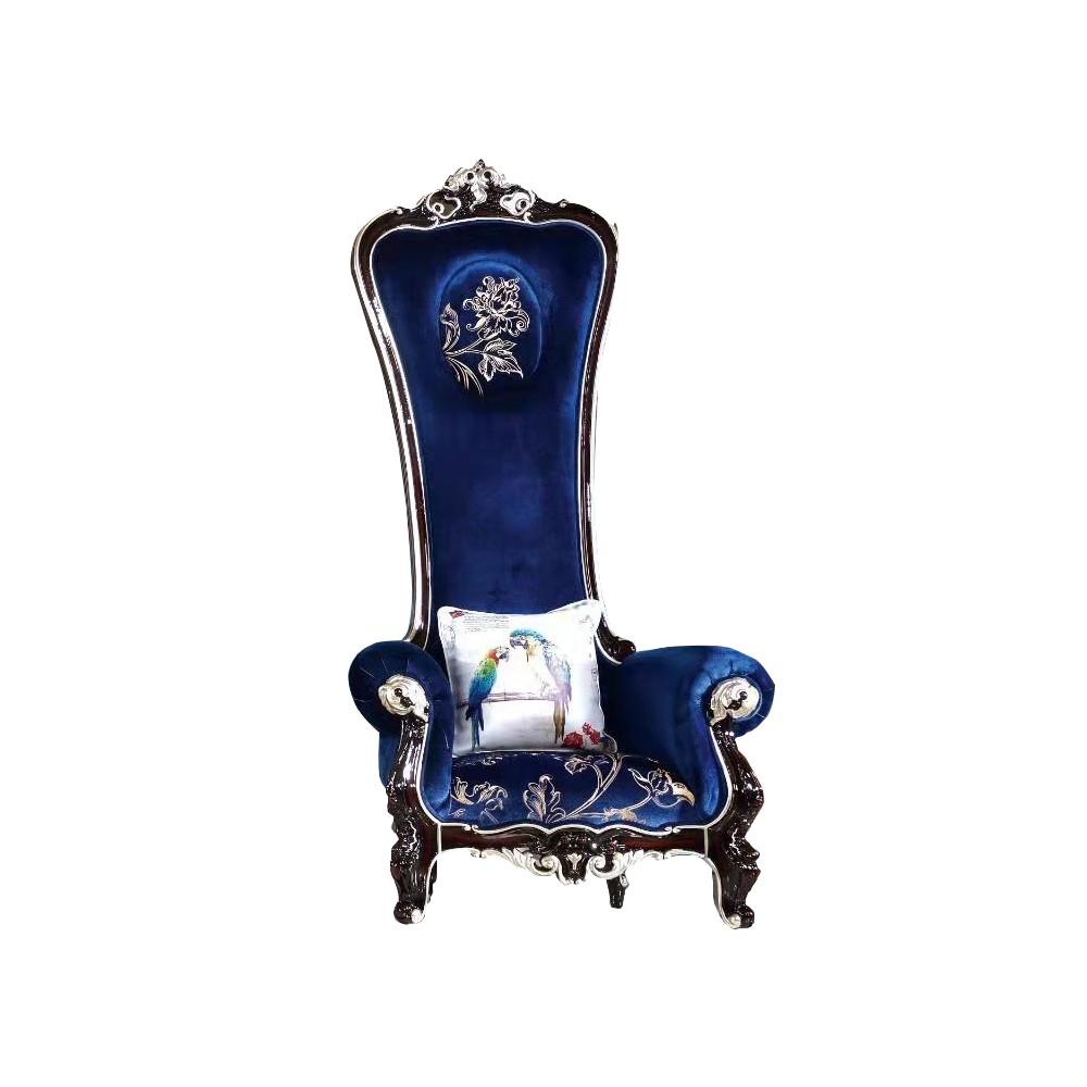 曼斯丹丽欧美实木家具古典雕花客厅沙发单人位沙发休闲沙发