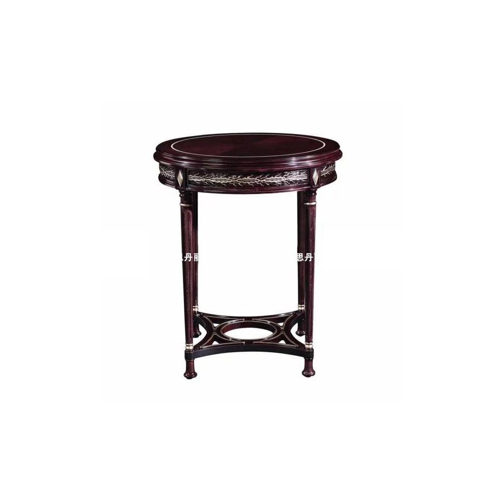 曼斯丹丽欧美实木家具轻奢雕花客厅茶几角几圆几