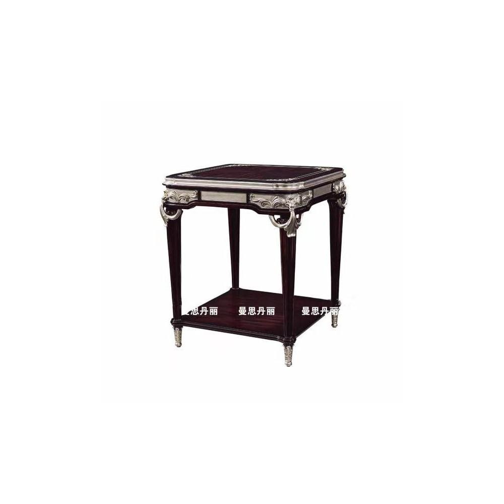 曼斯丹丽欧美实木家具轻奢雕花客厅茶几角几圆几3