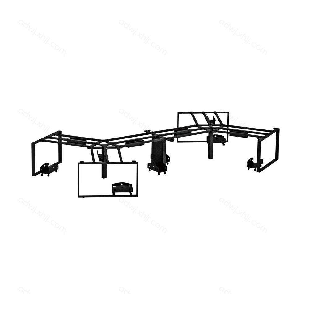 职员桌现代屏风办公桌架PFZJ-22