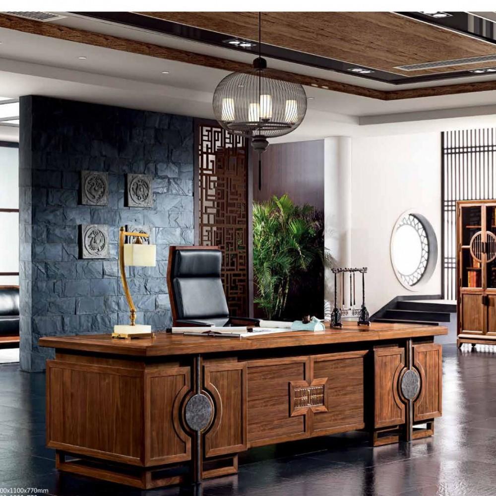新中式班台办公家具DOBT-01