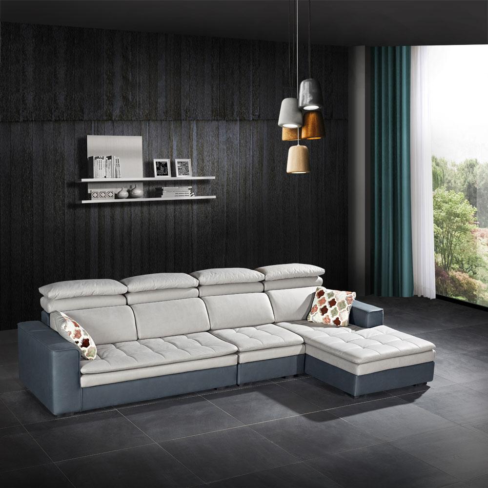 第五季F1 现代休闲科技布转角沙发