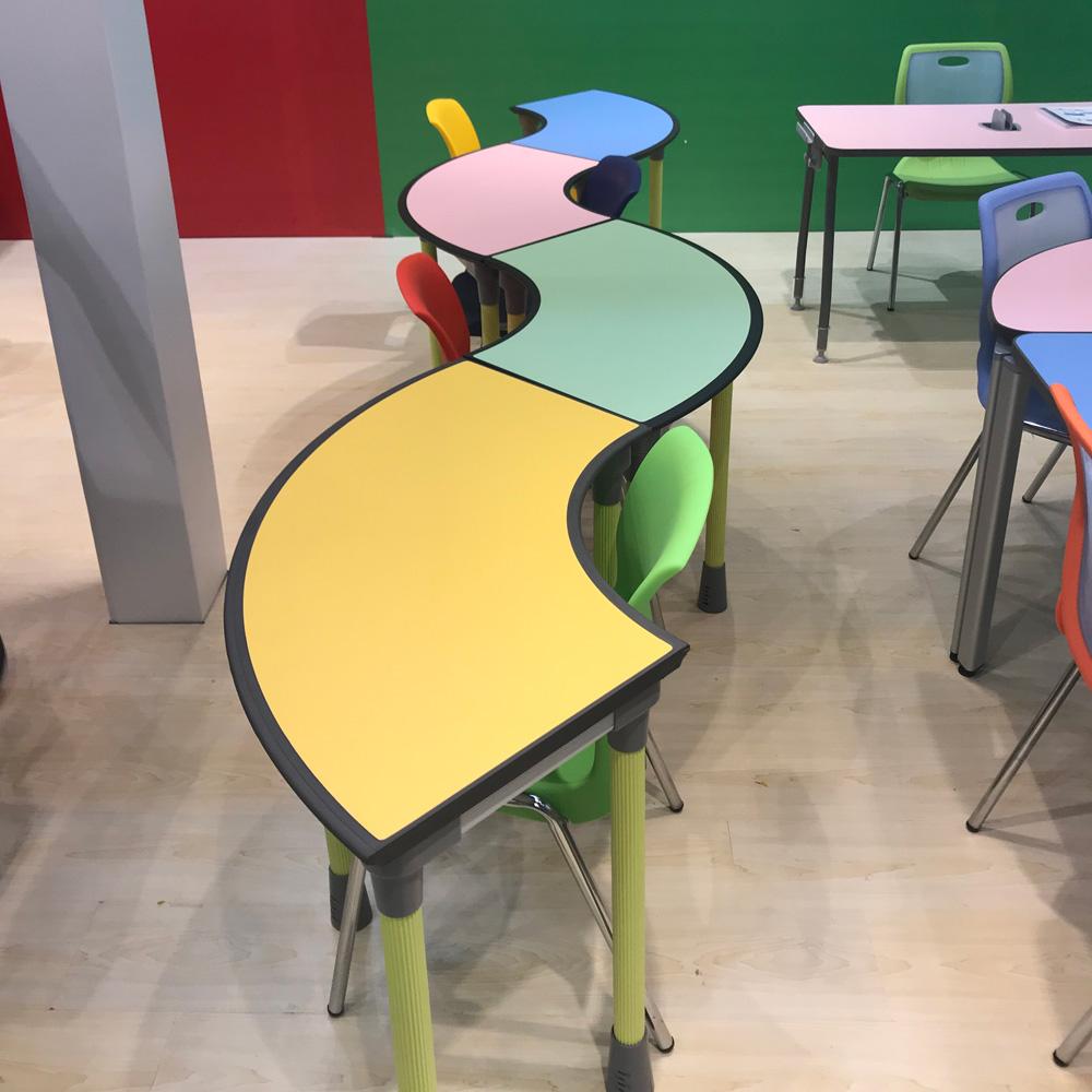 组合桌 扇形桌 阅览桌