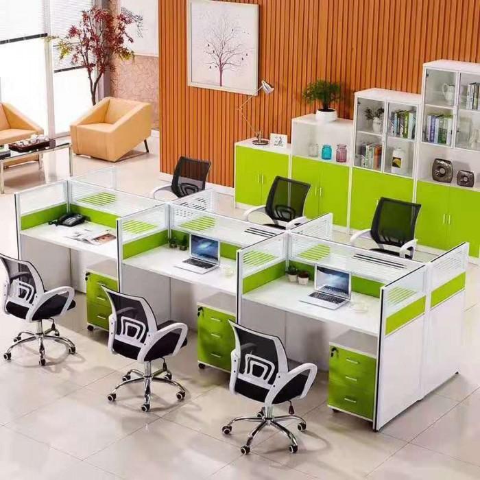现代办公桌职员四人位电脑桌63