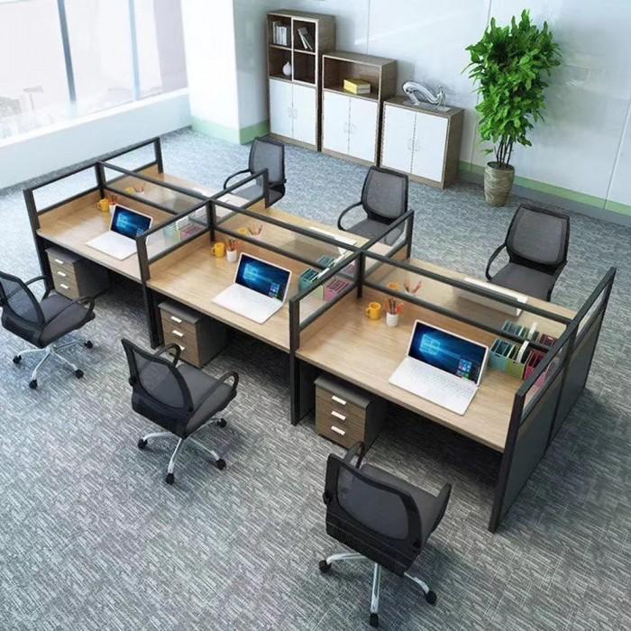 多人位办公屏风电脑桌67