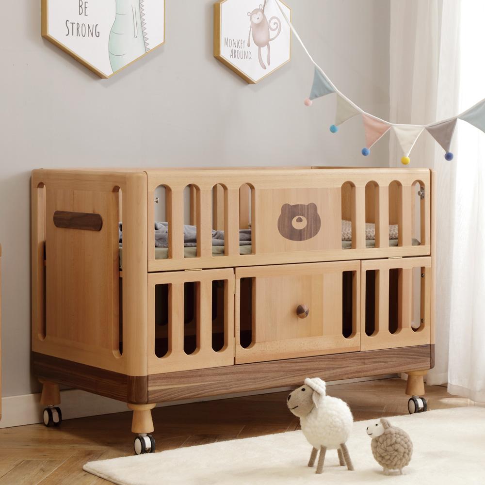 北欧婴儿床可移动宝宝小床4R0A2667